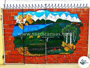 Amazing Gates And Doors Painting Ideas Entrance Wall Art Decor Saadi Canvas